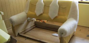 Замена наполнителя мягкой мебели - Уютный Дом
